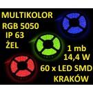 TAŚMA DIODOWA 60 x LED 5050 IP63 1m RGB 16
