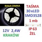TAŚMA DIODOWA 30 x LED 3528 IP63 1m biała zimna 14