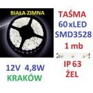 TAŚMA DIODOWA 60 x LED 3528 IP63 1m biała zimna 16
