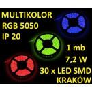 TAŚMA DIODOWA 30 x  LED 5050 IP20 1m RGB 15