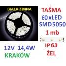 TAŚMA DIODOWA 60 x LED 5050 IP63 1m biała zimna 16