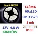 TAŚMA DIODOWA 60 x  LED 3528 IP65 1m biała zimna 16
