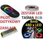 ZESTAW TAŚMA 480 LED 5050 RGB PILOT dotykowy 8m