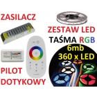 ZESTAW TAŚMA 360  LED 5050 RGB PILOT dotykowy 6m