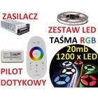 ZESTAW TAŚMA 1200  LED 5050 RGB PILOT dotykowy 20m