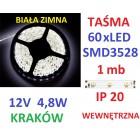 TAŚMA DIODOWA 60 x LED 3528 IP20 1m biała zimna
