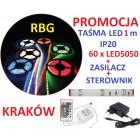 ZESTAW TAŚMA 60 x LED RGB 1m ZASILACZ STEROW IP20