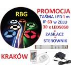 ZESTAW TAŚMA LED RGB 1m ZASILACZ STEROWNIK IP63