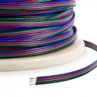 PRZEWÓD KABEL RGB 4x0,50mm taśma